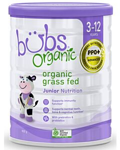 Bubs Organic Grass Fed Junior Nutrition *Stage 4* (3-12 Years) 800gm