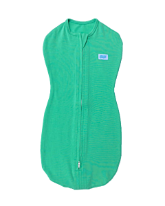 Gugu Premium Zipped Swaddle - Green Plain