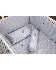 Comfy Baby: Comfy Living 6 in 1 Bedding Set - Grey Polka Dot