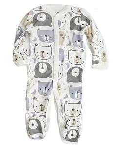 Earth Bebe: Onesie Pyjamas - Grey Bear (0 - 3 Months) - 20% OFF!!