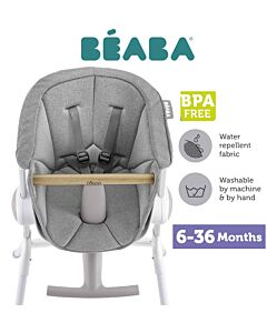 Beaba Comfy Seat Cushion - Grey (for Up & Down High Chair) - 10% OFF!!