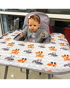 Poppy Seat: Pop-Up High Chair Cover - Grey Fox - 20% OFF!!