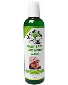 Cherub Rubs Organic Hair & Body Wash 250ml - 20% OFF!!