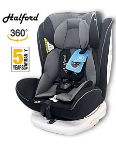 Halford: Zeus 360 Spin Car Seat Isofix - Grey