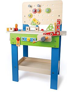 Hape Toys: Master Workbench Kid's Wooden Toolbench Pretend Builder Set - RM100 OFF!!
