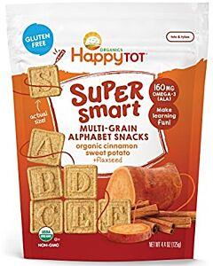 Happy Baby: Happy Tot Super Smart Multi-Grain Alphabet Snacks in Cinnamon Sweet Potato