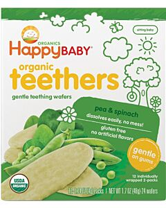 Happy Baby: Organic Teethers - Pea & Spinach - 20% OFF!!