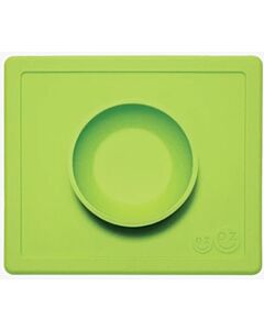 EZPZ Happy Bowl | Self-Suctioning Silicone Bowl & Placemat (24+ Months) | Lime - 50% OFF!!