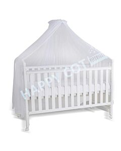 Happy Cot: Happy Dream 4 in 1 Convertible Baby Cot with Mattress & Net - White - 10% OFF!!