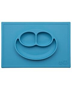 EZPZ Happy Mat | Self-Suctioning Silicone Plate & Placemat (24+ Months) | Blue - 30% OFF!!