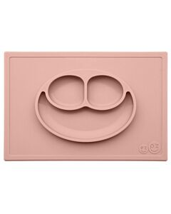 EZPZ Happy Mat | Self-Suctioning Silicone Plate & Placemat (24+ Months) | Blush - 30% OFF!!