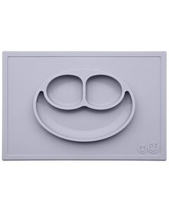 EZPZ Happy Mat | Self-Suctioning Silicone Plate & Placemat (24+ Months) | Pewter - 30% OFF!!