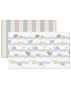 Parklon: PVC Pure Soft Mat (Double Sided) - HAPPY WHALE + 2 TONE STRIPE (M) - 22% OFF!!