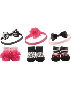 Hudson Baby: Girls' Headband and Socks Set, 6 Piece (58134) - 20% OFF!!