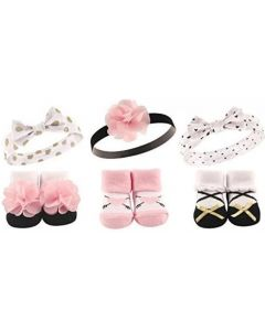 Hudson Baby Baby: Girls' Headband and Socks Set, 6 Piece (58135) - 20% OFF!!