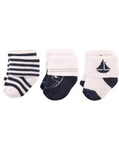 Hudson Baby: Newborn Baby Boys' Terry Socks 3-Pack (0-6mths) (54595) - 20% OFF!!