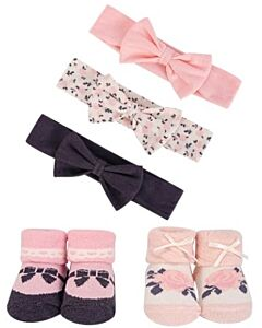 Hudson Baby: Girls' Headband and Socks Set, 5 Piece (54157) - 20% OFF!!