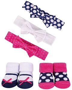 Hudson Baby: Girls' Headband and Socks Set, 5 Piece (54483) - 20% OFF!!