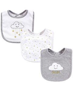 Hudson Baby Drooler Terry Bibs (3 pcs) (Grey Cloud) 56030 - 20% OFF!!