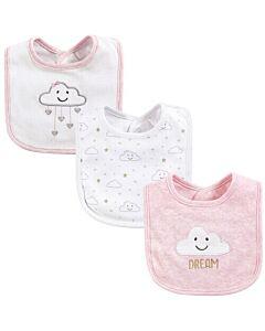 Hudson Baby Drooler Terry Bibs (3 pcs) (Pink Cloud) 56029 - 20% OFF!!