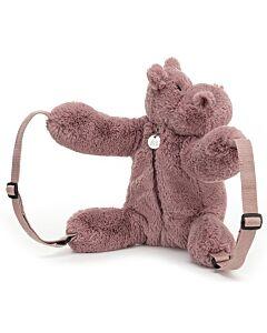 Jellycat: Huggady Hippo Backpack (28cm)