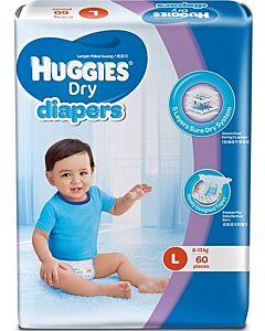 Huggies Dry Diapers L60 (8-13 kg) Super Jumbo pack - 35% OFF!!