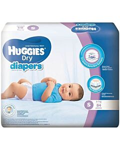 Huggies Dry Diapers S84 (3 - 7 kg) Super Jumbo pack - 35% OFF!!