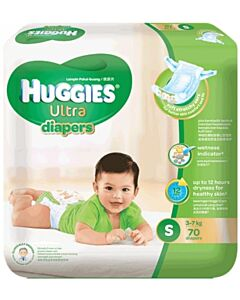 Huggies Ultra Diapers Super Jumbo (S70) - 28% OFF!!