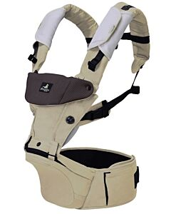 Abiie Huggs Baby Carrier with Patented Hipbelt (Khaki) - 78% OFF!!