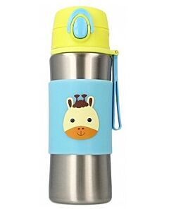 Snapkis: Insulated Spout Bottle 340ml   Giraffe - 30% OFF!!