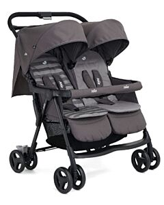 Joie: Aire Twin Double Buggy (from birth to 15kg) - Dark Pewter - 25% OFF!!