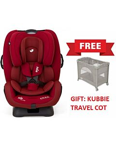 Joie: Every Stage Car Seat - Cranberry (0-12 years) +  (FREE Joie Kubbie Travel Cot) - 32% OFF!!