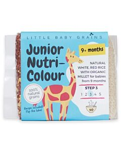 Little Baby Grains: Junior Nutri-Colour | Natural White, Red Rice with Organic Millet (From 9+ Months) - 12% OFF!!