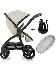 Egg® Stroller: Jurassic Cream on Gun Metal Chassis - 11% OFF!!