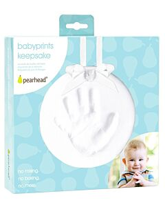 Pearhead: Babyprints Hanging Keepsake (Round) - White - 15% OFF!
