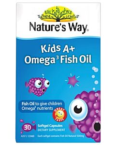 Nature's Way: Kid's A+ Omega 3 Fish Oil 30's (Softgel Capsules)