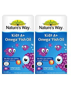 Nature's Way: Kid's A+ Omega 3 Fish Oil 90's (Softgel Capsules) *TWIN PACK* - 34% OFF!!