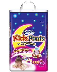 MamyPoko Kids Pants For Night Time Girl XXXL10 (18-35kg)