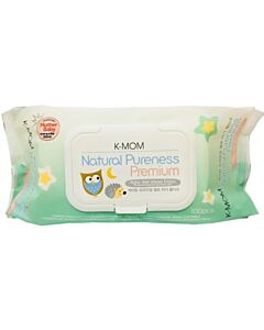 K-MOM Organic Premium Wipes with Lid 100s