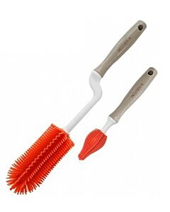 MOTHER-K: Silicone Brush (2 Kinds Of Sets) *Ruby Grapefruit* - 27% OFF!!