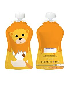 Squooshi: Large Food Storage Pouch (Lion) 130ml - 20% OFF!!
