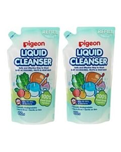 Pigeon: Bottle Nipple and Vegetable Liquid Cleanser - 650ml Refill Pack (2 pack) - 37% OFF!