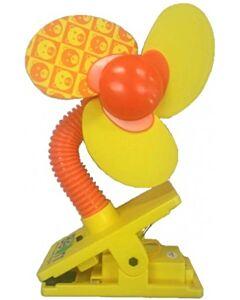 Little Bean - Deluxe Mini Safety Fan W/O Led (Yellow/Orange) *BEST BUY*