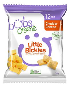 Bubs Organic Little Bickies Cheddar Cheese 30gm (12+ Months)