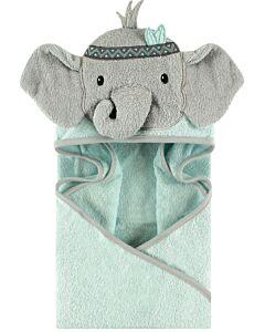 Little Treasure Animal Hooded Towel - Tribal Elephant (00350) - 32% OFF!!