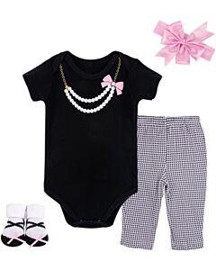 Little Treasure: Gift Set - Newborn Baby 4pc Layette Set (0-6mths) (77004) - 20% OFF!!