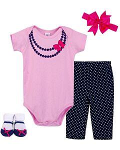 Little Treasure: Gift Set - Newborn Baby 4pc Layette Set (0-6mths) (77005) - 20% OFF!!