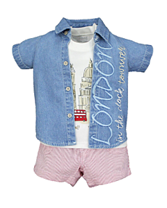 Wonder Child Collection: London Boy - Shirt/Top/Shorts (6 - 12 Mths) - 10% OFF!