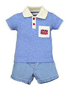 Wonder Child Collection: London Boy - Polo & Shorts (6 - 12 Mths) - 10% OFF!
