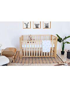 Babyhood: Lulu Cot (Beech) + My First Breathe Eze Innerspring Mattress + 5pcs Bedding Set - 5% OFF!!